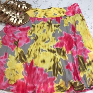INC  flowy beautiful lined skirt !  Size 12